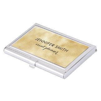 Boîtier Pour Cartes De Visite Le miroitement de Faux d'or allume le porte-cartes