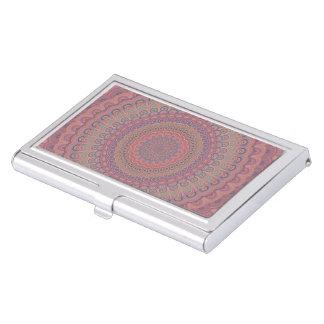 Boîtier Pour Cartes De Visite Mandala d'ovale de Boho