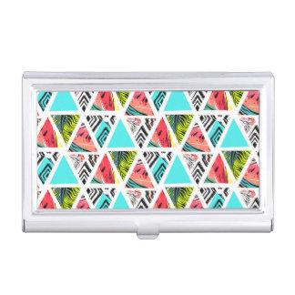 Boîtier Pour Cartes De Visite Motif tropical abstrait coloré