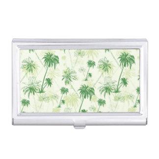 Boîtier Pour Cartes De Visite Motif vert de palmier