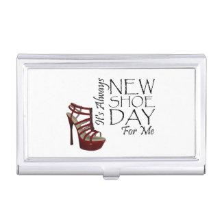 Boîtier Pour Cartes De Visite Nouveau jour de chaussure de PIÈCE EN T