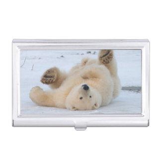 Boîtier Pour Cartes De Visite ours blanc, maritimus d'Ursus, petit animal