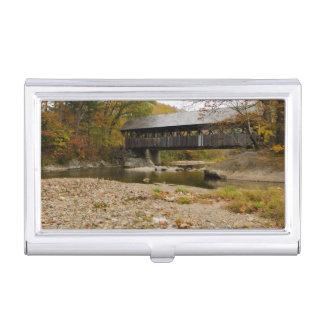 Boîtier Pour Cartes De Visite Pont couvert de Newry au-dessus de rivière en