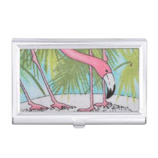 Boîtier Pour Cartes De Visite Porte-cartes de carte de visite rose de flamant