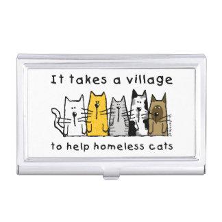 Boîtier Pour Cartes De Visite Prend à un sans-abri d'aide de village des chats