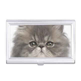 Boîtier Pour Cartes De Visite Séance persane de chaton (2 mois)