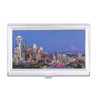 Boîtier Pour Cartes De Visite Seattle, le centre ville et mont Rainier au