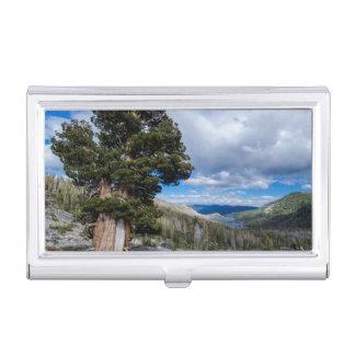 Boîtier Pour Cartes De Visite Sierra genévrier et arbres 2 d'arbre