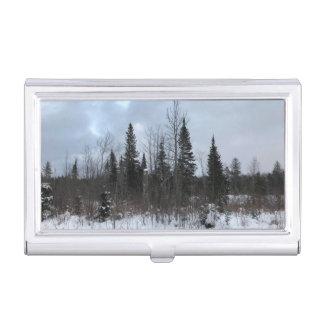 Boîtier Pour Cartes De Visite Support d'étui de cartes de paysage de pins