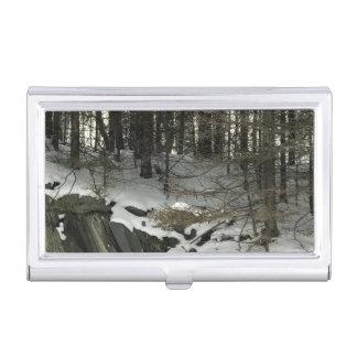 Boîtier Pour Cartes De Visite Support d'étui de cartes de paysage d'hiver