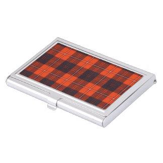Boîtier Pour Cartes De Visite Tartan d'écossais de plaid de clan de Cunningham