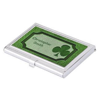 Boîtier Pour Cartes De Visite Trèfle irlandais simili cuir