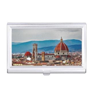 Boîtier Pour Cartes De Visite Vieille ville de Florence, horizon de l'Italie
