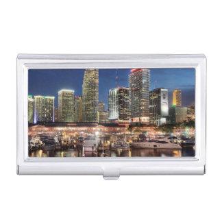 Boîtier Pour Cartes De Visite Ville d'horizon de Miami en Floride