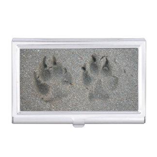 Boîtier Pour Cartes De Visite Voies de chien en sable