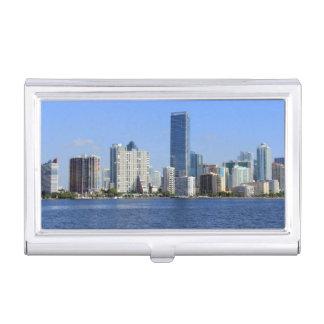 Boîtier Pour Cartes De Visite Vue d'horizon de Miami