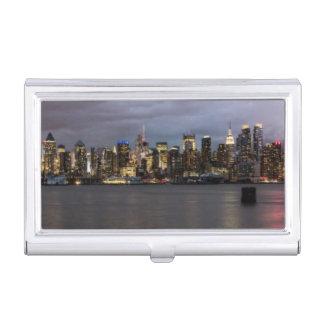 Boîtier Pour Cartes De Visite Vue panoramique de début de soirée de Manhattan