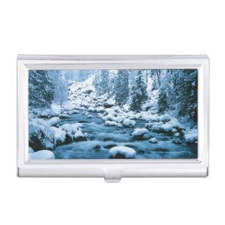 Boîtier Pour Cartes De Visite WA, réserve forestière de Wenatchee, cascade