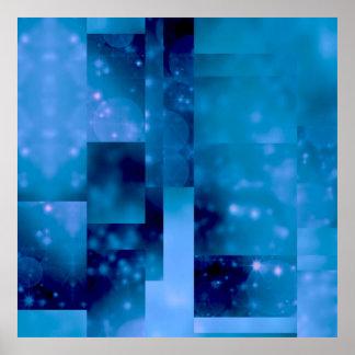 Bokeh 01 bleu posters