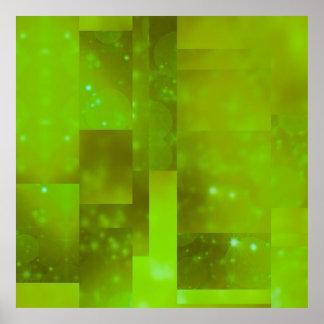 Bokeh 01 néon affiches
