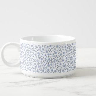 Bol À Chili Fleurs bleues sur le motif blanc
