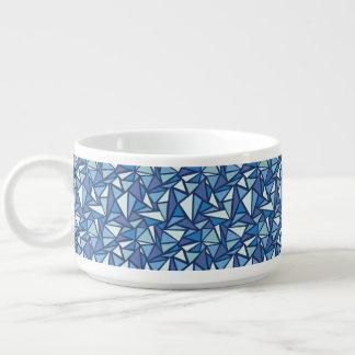 Bol À Chili Motif bleu abstrait de Crsytal de glace