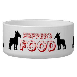 Bol affamé d'aliments pour chiens bols pour chien
