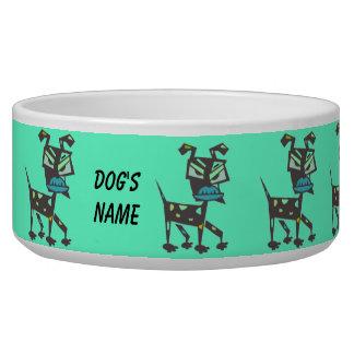 Bol d'aliments pour chiens d'art déco écuelles pour chien