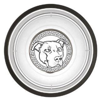 Bol graphique d aliments pour chiens de pitbull de