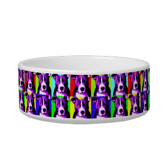 Bol graphique d'aliments pour chiens de pitbull bols pour chat