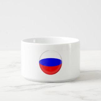 Bol Pour Chili Drapeau de Russe de la Russie