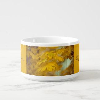 Bol Pour Chili Feuille jaune d'érable d'automne. Ajoutez-vous