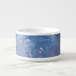 Bol Pour Chili L'eau blanche bleue triste de vague de peinture