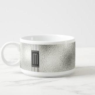 Bol Pour Chili Rayures en métal sur le monogramme en verre ID443