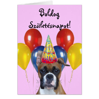 Boldog Születésnapot ! Carte de boxeur