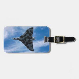 Bombardier de Vulcan en vol Étiquette Pour Bagages