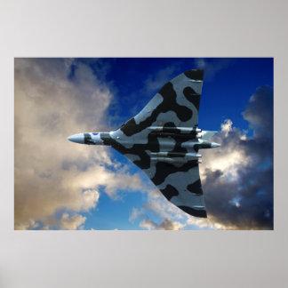 Bombardier de Vulcan en vol Posters