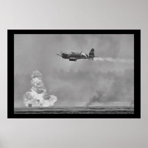 Bombardier japonais de torpille de B5N Kate Affiche
