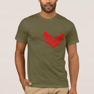 Bombe d'amour, coeur de grenade t-shirt