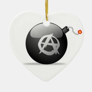 Bombe d'anarchie ornement cœur en céramique