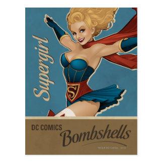 Bombe de Supergirl Carte Postale
