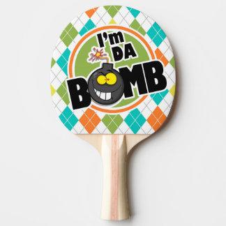 Bombe du DA !  Motif à motifs de losanges coloré Raquette Tennis De Table