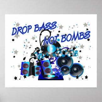 Bombes de basse de baisse pas affiche