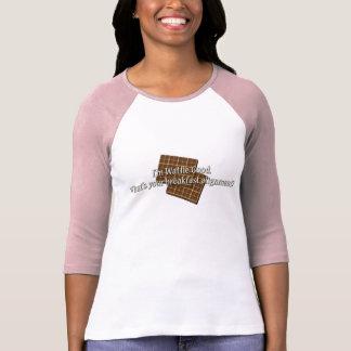 Bon alignement de gaufre t-shirt
