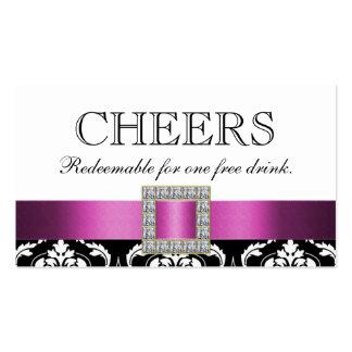 Bon blanc noir rose de boissons de barre de carte de visite standard
