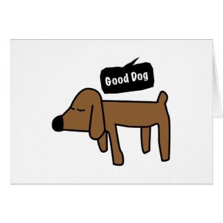 Bon chien carte de vœux
