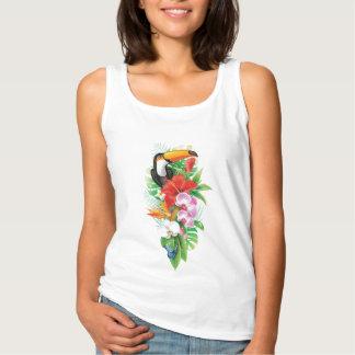 Bon) débardeur blanc tropical de toucan (