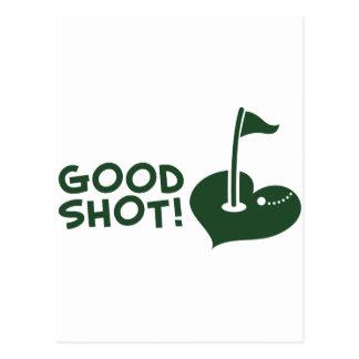 Bon golf de tir cartes postales
