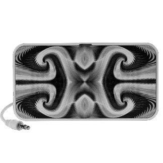 Bon griffonnage argenté de vibrations haut-parleur ordinateur portable