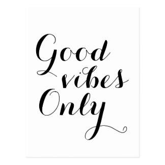 Bon message positif élevant heureux de vibraphone cartes postales